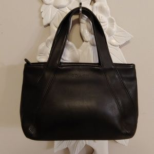 Coach cowhide leather hand bag purse